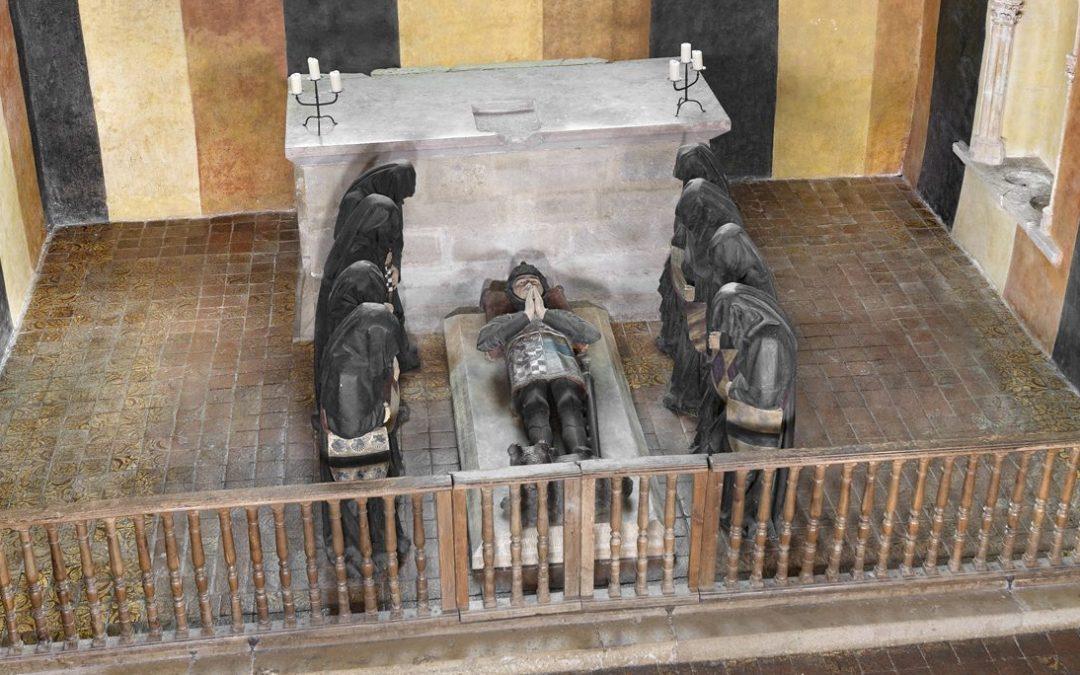 Visite vidéo du tombeau de Philippe Pot restauré, un des plus spectaculaires de la fin du Moyen Âge