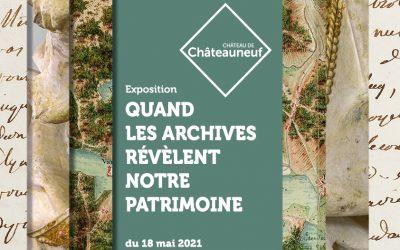 """Exposition """"Quand les archives révèlent notre patrimoine"""""""
